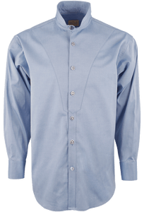 Stubbs Men's Stand-Up Collar Shirt - Light Blue - Front