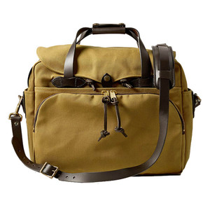 Filson Padded Computer Bag - Tan - Front