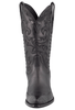 Stallion Women's Black Calf and Gator Wingtip Boots - Front