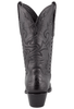 Stallion Women's Black Calf and Gator Wingtip Boots - Back