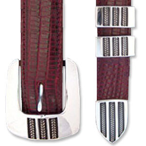 "Horst Schrader Three Braids 1"" Buckle Set"