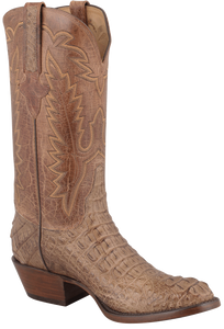 Lucchese Men's Tan Mad Dog Hornback Caiman Boots - Hero