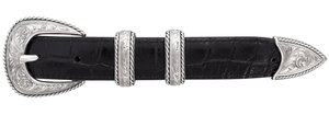 """Randall Moore Lariat Engraved 1"""" Buckle Set"""