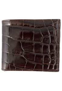 Alligator Hipster Wallet - Brown - Front