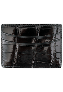Alligator 5-Pocket Card Case - Black - Front
