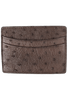 Ostrich 5-Pocket Card Case - Brown - Front