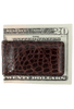American Alligator Magnetic Money Clip - Brown - Back