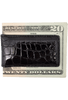American Alligator Magnetic Money Clip - Black - Back