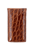 American Alligator Magnetic Money Clip - Cognac - Front