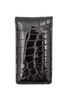 American Alligator Magnetic Money Clip - Black - Front