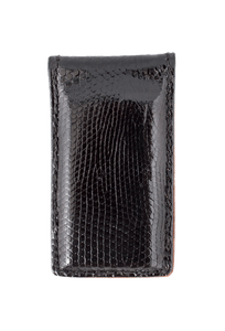 Lizard Magnetic Money Clip - Black - Front