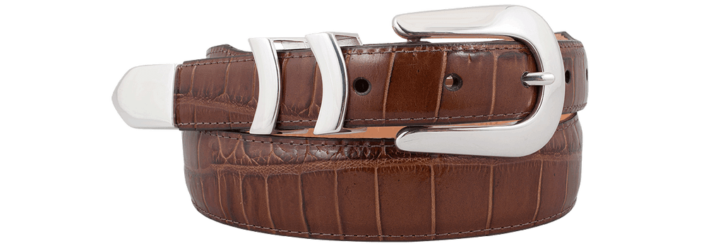 Catera Croc Belt - Brown
