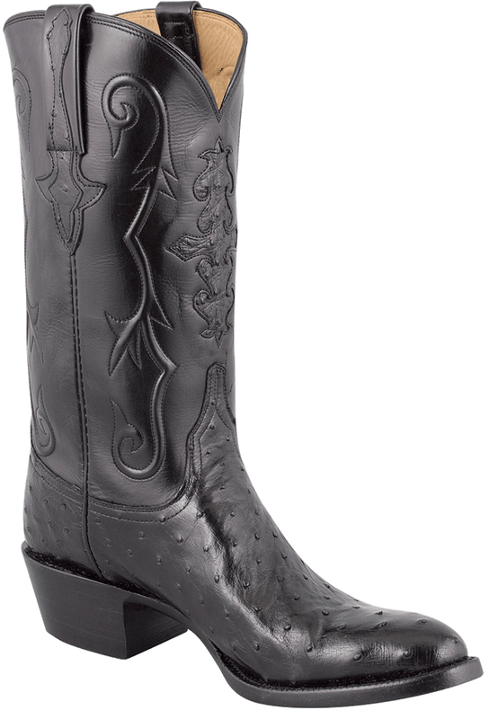 Men S Lucchese Ostrich Boots Buy Lucchese Men S Black