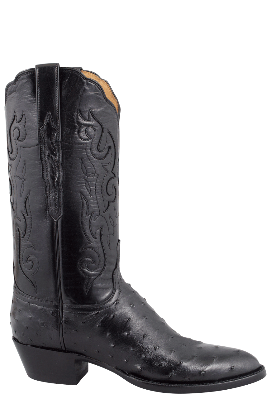 lucchese women u0026 39 s black full-quill ostrich boots