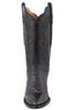 Lucchese Women's Black Full-Quill Ostrich Boots - Front