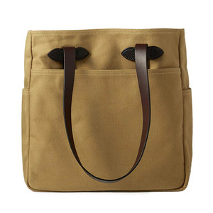 Filson Tote Bag - Dark Tan - Front