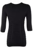 Last Tango Ruched Top - Black - Back