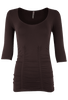Last Tango Ruched Top - Chocolate - Front