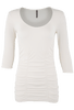 Last Tango Ruched Top - Ivory - Front