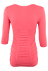 Last Tango Ruched Top - Coral - Back