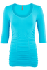 Last Tango Ruched Top - Turquoise - Front
