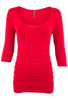Last Tango Ruched Top - Red - Front