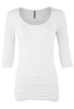 Last Tango Ruched Top XL - White - Front
