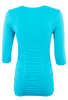 Last Tango Ruched Top XL - Turquoise - Back