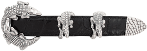 "Jeff Deegan Double Alligator 1"" Buckle Set"
