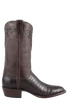 Lucchese Men's Chocolate Nile Crocodile Boots - Side