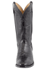 Lucchese Men's Black Nile Crocodile Boots - Front