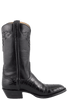 Lucchese Men's Black Nile Crocodile Boots - Side