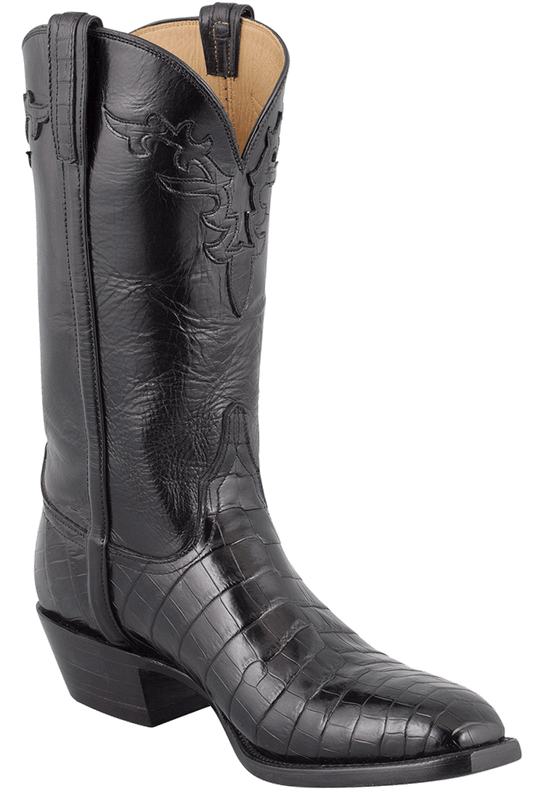 s black lucchese crocodile boots shop lucchese