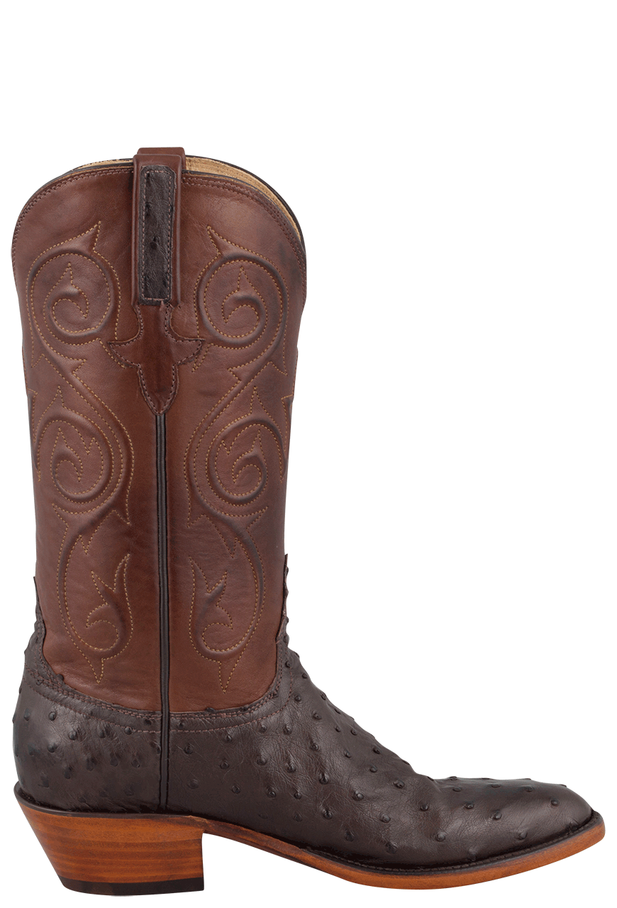 Lucchese Women S Nicotine Full Quill Ostrich Boots Pinto