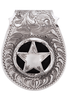 Pinto Ranch Star Engraved FOB Money Clip - Front