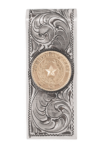 Pinto Ranch State Seal Gold and Silver Engraved Money Clip - Front
