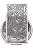 University of Texas Bevo Gold and Silver Engraved Cinco Peso Money Clip - Back