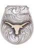 University of Texas Bevo Gold and Silver Engraved Money Clip - Front
