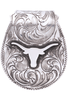 University - UT Austin Bevo Engraved Silver Money Clip - Front