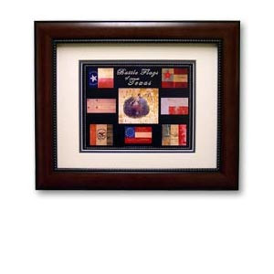 Flag - Battle Flags of Texas Historic Flag Print