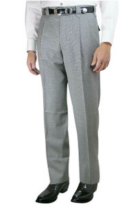 Luxury Pleated Western Dress Slacks - Black and White Check - Back
