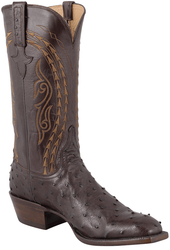 Lucchese Men's Nicotine Full-Quill Ostrich Boots - Hero