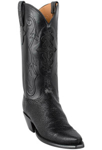 Lucchese Women's Black Shaved Stingray Boots - Hero