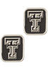 Texas Tech University Silver Cufflinks - Front
