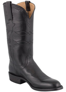 Lucchese Men's Black Baby Buffalo Roper Boots - Hero