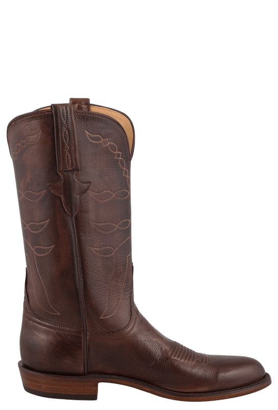 Lucchese Men S Whiskey Baby Buffalo Roper Boots Pinto Ranch