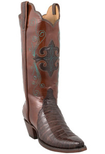 Lucchese Women's Sienna Ultra Caiman Crocodile Triad Boots - Hero