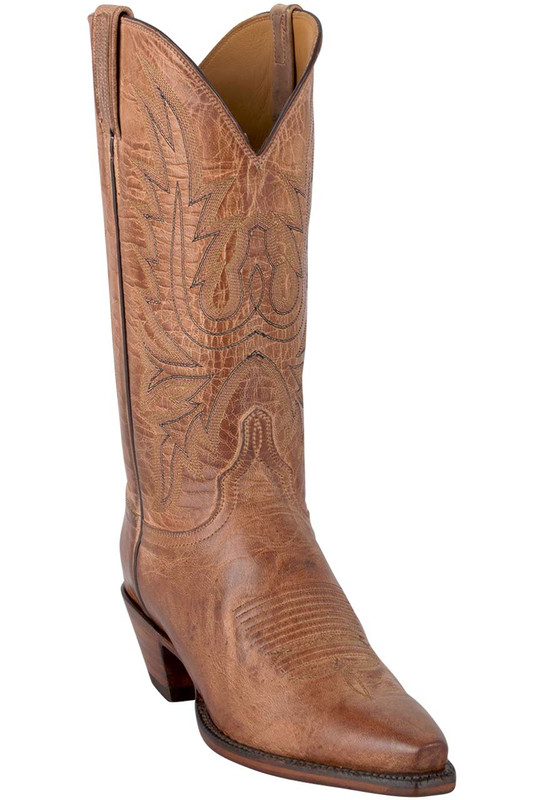 Lucchese Women's Tan Mad Dog Boots - Hero