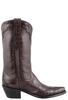 Stallion Women's Chocolate Majestic Caiman Crocodile Boots - Side