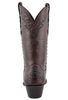Stallion Women's Chocolate Majestic Caiman Crocodile Boots - Back